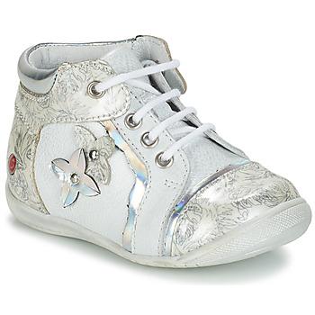 Cipők Lány Csizmák GBB SONIA Fehér / Ezüst