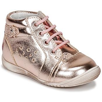 Cipők Lány Magas szárú edzőcipők GBB SIDONIE Rózsaszín / Arany