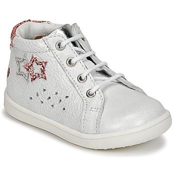 Cipők Lány Magas szárú edzőcipők GBB SABBAH Fehér