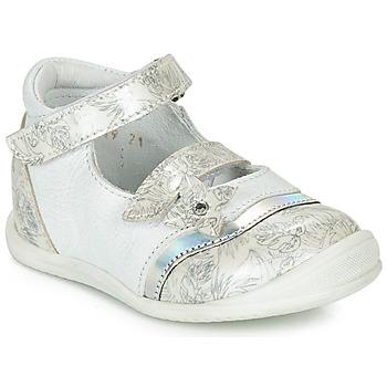 Cipők Lány Balerina cipők  GBB STACY Fehér / Ezüst
