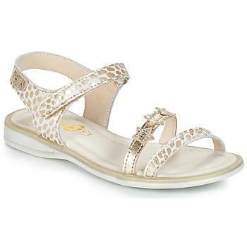 Cipők Lány Szandálok / Saruk GBB SWAN Fehér / Arany