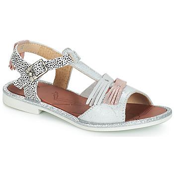 Cipők Lány Szandálok / Saruk GBB MARIA Ezüst / Fehér