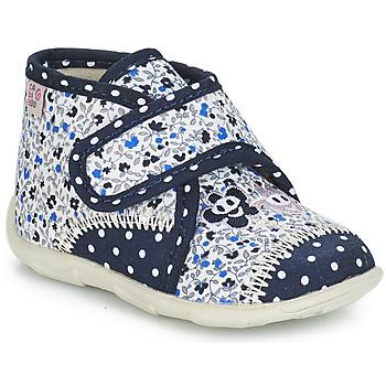Cipők Lány Mamuszok GBB PASCALINE Ttx / Tengerész kék-virág / Dtx / Amis