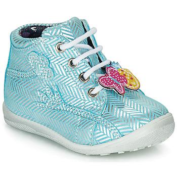 Cipők Lány Magas szárú edzőcipők Catimini SALAMANDRE Kék / Ezüst