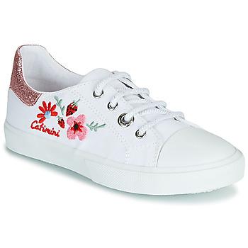 Cipők Lány Rövid szárú edzőcipők Catimini SAXIFAGE Fehér