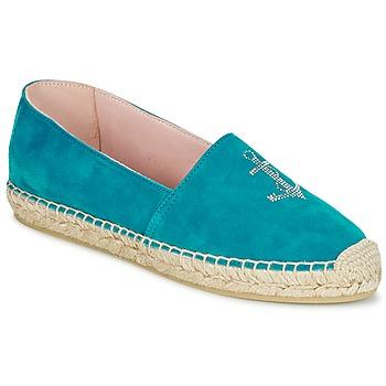 Cipők Női Gyékény talpú cipők Pretty Ballerinas ANGELIS Türkiz
