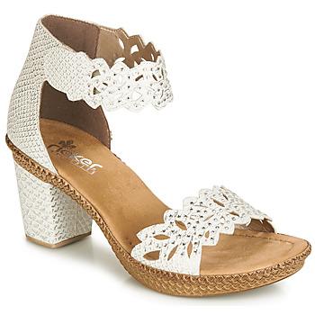 Cipők Női Szandálok   Saruk Rieker BELALIER Fehér 874f44a0d6