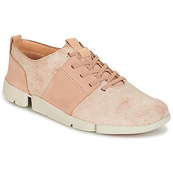 Cipők Női Rövid szárú edzőcipők Clarks TRI CAITLIN Rózsaszín