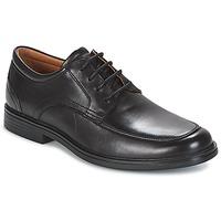 Cipők Férfi Oxford cipők Clarks UN ALDRIC PARK Fekete / Bőrszínű