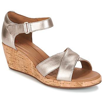 Cipők Női Szandálok / Saruk Clarks UN PLAZA CROSS Arany