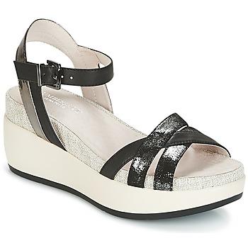 Cipők Női Szandálok / Saruk Lumberjack BLANCHE Fekete  / Ezüst