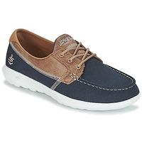 Cipők Női Vitorlás cipők Skechers GO WALK LITE Tengerész
