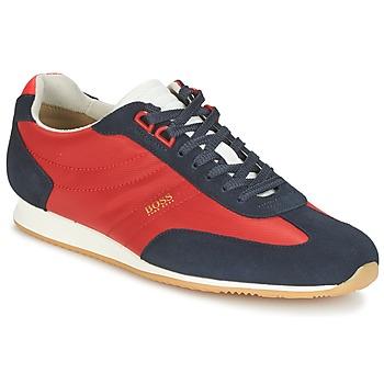 Cipők Férfi Rövid szárú edzőcipők Hugo Boss Orange ORLANDO LOW PROFILE Piros / Tengerész