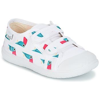 Cipők Gyerek Rövid szárú edzőcipők Citrouille et Compagnie GLASSIA Fehér