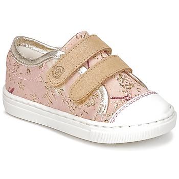 Cipők Lány Rövid szárú edzőcipők Citrouille et Compagnie JORDANIA Rózsaszín / Arany