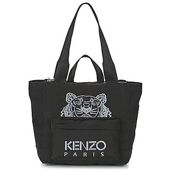 Táskák Női Bevásárló szatyrok / Bevásárló táskák Kenzo KANVAS TIGER TOTE LARGE Fekete