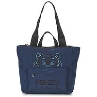 Táskák Női Bevásárló szatyrok / Bevásárló táskák Kenzo KANVAS TIGER TOTE LARGE Tengerész