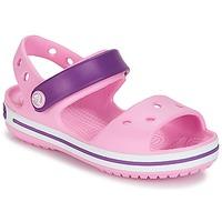 Cipők Lány Szandálok / Saruk Crocs Crocband Sandal Kids Testszín / Rózsaszín / Lila