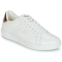 Cipők Női Rövid szárú edzőcipők Fila CROSSCOURT 2 F LOW WMN Fehér / Rózsaszín / Arany