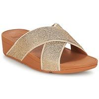 Cipők Női Papucsok FitFlop CRYSTAL II SLIDE SANDALS Arany
