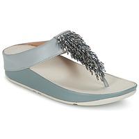 Cipők Női Lábujjközös papucsok FitFlop CHA-CHA TOE-THONG SANDALS CRYSTAL Kék