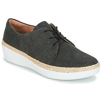Cipők Női Rövid szárú edzőcipők FitFlop SUPERDERBY LACE UP SHOES Fekete ac4f056d53