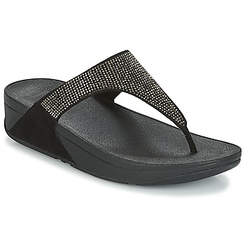 Cipők Női Lábujjközös papucsok FitFlop SLINKY ROKKIT Fekete