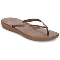 Cipők Női Lábujjközös papucsok FitFlop IQUSHION ERGONOMIC FLIP FLOPS Bronz
