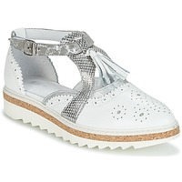 Cipők Női Oxford cipők Regard RASTANU Fehér / Ezüst