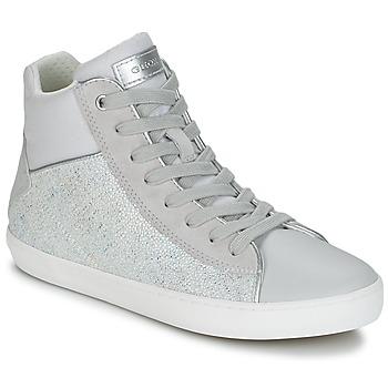 Cipők Lány Magas szárú edzőcipők Geox J KILWI G. H Szürke / Ezüst