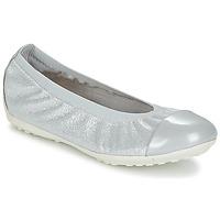 Cipők Lány Balerina cipők / babák Geox J PIUMA BAL A Szürke / Ezüst