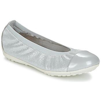 Cipők Lány Balerina cipők  Geox J PIUMA BAL A Szürke / Ezüst
