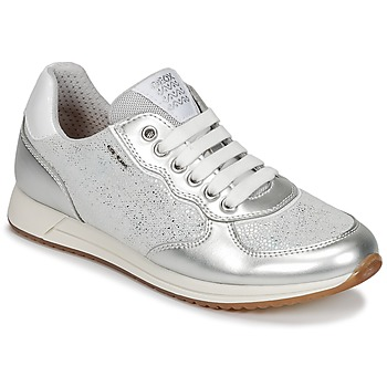 Cipők Lány Rövid szárú edzőcipők Geox J JENSEA G. D Szürke / Ezüst