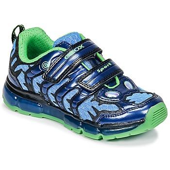 Cipők Fiú Rövid szárú edzőcipők Geox J ANDROID B. B Tengerész / Zöld