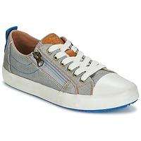 Cipők Fiú Rövid szárú edzőcipők Geox J ALONISSO B. D Szürke / Kék
