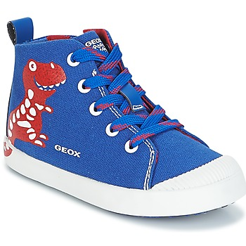 Cipők Fiú Magas szárú edzőcipők Geox B KILWI B. F Kék / Piros