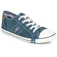 Cipők Női Rövid szárú edzőcipők Mustang RUGARL Kék