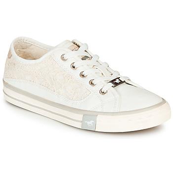 Cipők Női Rövid szárú edzőcipők Mustang ROULIA Fehér