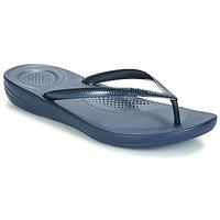 Cipők Női Lábujjközös papucsok FitFlop IQUSHION ERGONOMIC FLIP-FLOPS Kék