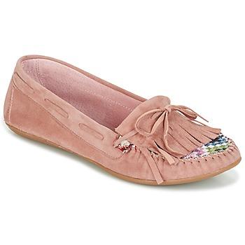 Cipők Női Mokkaszínek Ippon Vintage MOC-WAX-ROSE Rózsaszín