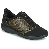 Cipők Női Rövid szárú edzőcipők Geox D NEBULA C Arany / Fekete