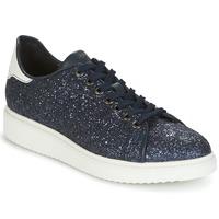 Cipők Női Rövid szárú edzőcipők Geox D THYMAR C Kék   Fehér abf6b7d93f