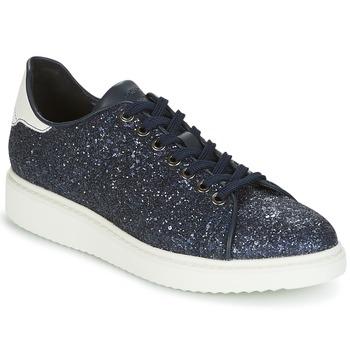 Cipők Női Rövid szárú edzőcipők Geox D THYMAR C Kék / Fehér