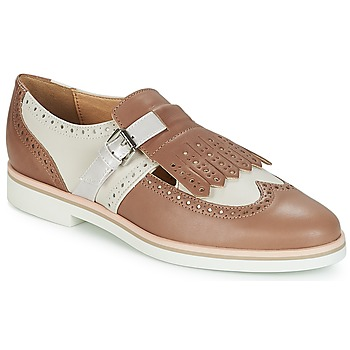 Cipők Női Oxford cipők Geox JANALEE B Homokszín / Fehér