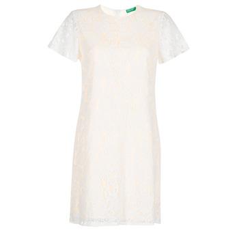 Ruhák Női Rövid ruhák Benetton PRISTOUC Fehér