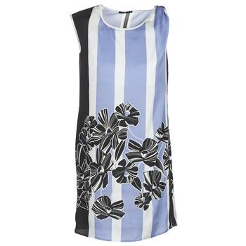 Ruhák Női Rövid ruhák Sisley LAPOLLA Kék / Fehér / Fekete