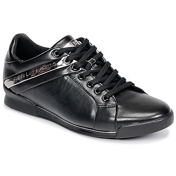 Cipők Férfi Rövid szárú edzőcipők Guess NEW GEORG Fekete