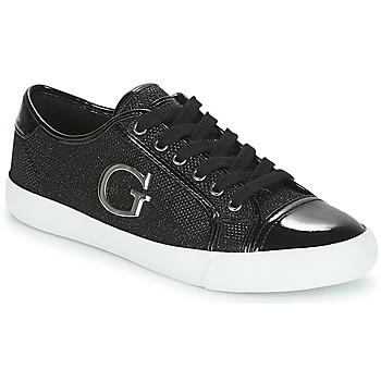 Cipők Női Rövid szárú edzőcipők Guess ELLY Fekete