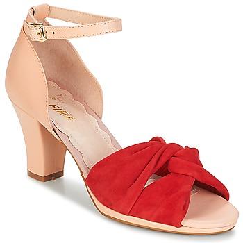 Cipők Női Szandálok / Saruk Miss L'Fire EVIE Piros / Rózsaszín