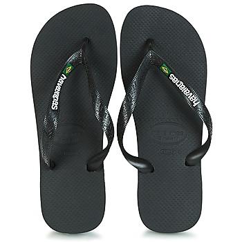 Cipők Lábujjközös papucsok Havaianas BRAZIL LOGO Fekete